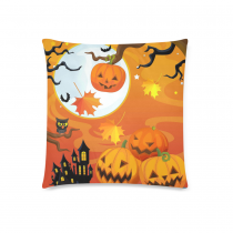 InterestPrint Cartoon Happy Halloween Pumpkin Home Decor , Owl Moon Night Pillowcase 18 x 18 Inches Two Sides - Soft Pillow Cover Case Shams Decorative