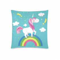 InterestPrint Home Decor Fairy Unicorn Rainbow , Horse Pony Pillowcase 18 x 18 Inches Two Sides - Cute Unicorn Pillow Cover Case Shams Decorative
