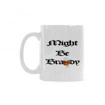 InterestPrint Kitchen & Dining Funny Might Be Brandy Ceramic Coffee Mug Cup-White-11 oz-Funny Quote Saying
