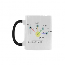 InterestPrint 11oz Math Morphing Mug Heat Sensitive Color Changing Coffee Mug Cup with Quotes, Unique Funny Birthday Christmas Gifts for Teachers Men Women Him Her Mom Dad