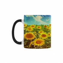 InterestPrint 11oz Love Summer Beauty Sunflower Bright Morphing Mug Heat Sensitive Color Changing Coffee Mug Cup with Quotes, Unique Funny Birthday Christmas Gifts for Men Women Him Her Mom Dad