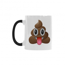InterestPrint 11oz Smiling Emotion Face Poop Emoji Morphing Mug Heat Sensitive Color Changing Coffee Travel Mug Cup with Quotes, Best Friends Friendship Mom Funny Unique Christmas Gifts