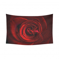 InterestPrint Flower Floral Wall Art Home Decor, Red Rose Petal Cotton Linen Tapestry Wall Hanging Art Sets