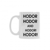 InterestPrint - Hodor, Hodor, Hodor, Hodor, Hodor Classical White Mug(11 OZ) Coffee Mugs