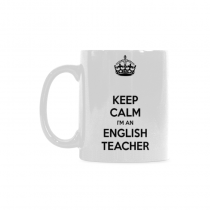 InterestPrint- Keep Calm I'm an English Teacher - 11 OZ Coffee Mugs