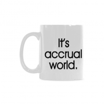 InterestPrint- It's accrual world, accountant, auditor, BLACK CPA - 11 OZ Coffee Mugs