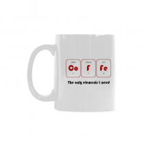 InterestPrint-- Co - Fe, the only elements I need, chemistry, periodic table - 11OZ ceramic coffee mugs