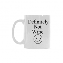 InterestPrint Definitely Not Wine Funny Coffee Mug - Birthday Gift Idea for Her, Mother's Day Gift - 11-Ounce, Ceramic Classical White Mug