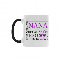 InterestPrint Mother's Day Gift for Nana Too Cool to Be a Grandma Sunglasses Gift Coffee Mug Tea Cup Morphing Mug(11 OZ)