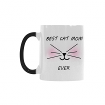 InterestPrint Funny Cat Gifts Best Cat Mom Ever Cat Lovers Cat Memes Gift Coffee Mug Tea Cup Morphing Mug(11 OZ)