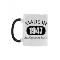 InterestPrint 70th Birthday Gift Made 1947 70th Birthday Party Decorations Gift Coffee Mug Tea Cup Morphing Mug(11 OZ)