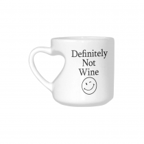 InterestPrint Definitely Not Wine Funny Coffee Mug - Birthday Gift Idea for Her, Mother's Day Gift - 10.3-Ounce, Ceramic Heart-shaped Mug