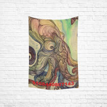 Custom Home Decor Wall Art Octopus Cotton Linen Hanging Wall Tapestry 40 x 60