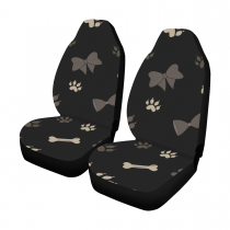 Dog Paw Pattern Car Seat Covers (Set of 2)