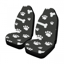 Dog bones and traces of puppy paws Car Seat Covers (Set of 2)