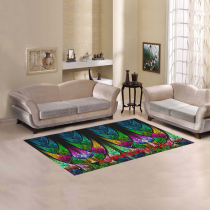 InterestPrint Sweet Home Modern Collection Custom Fractal pattern stained glass Area Rug 5'x3'3'' Indoor Soft Carpet