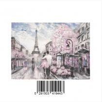 InterestPrint Sweet Home Modern Collection Custom Street View of Paris Eiffel Tower Indoor Soft Carp Area Rug 7' x 5'