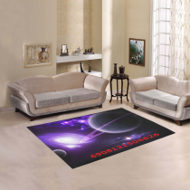 InterestPrint Sweet Home Modern Collection Custom Outer space stars galaxies purple Area Rug 7'x 3'3  Indoor Soft Carpet Runners Rugs for Hallways