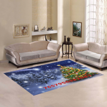 InterestPrint Sweet Home Stores Collection Custom Christmas Tree Area Rug 5'x3'3'' Indoor Soft Carpet