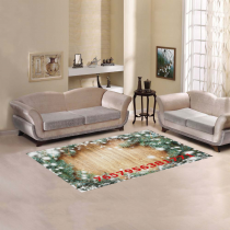 InterestPrint Sweet Home Stores Collection Custom Christmas Tree Area Rug 5'3''x4' Indoor Soft Carpet