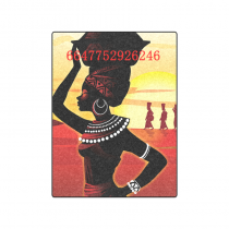 your-fantasia African Woman Unique Throw Bed Sofa Blanket 50 x 60 inches