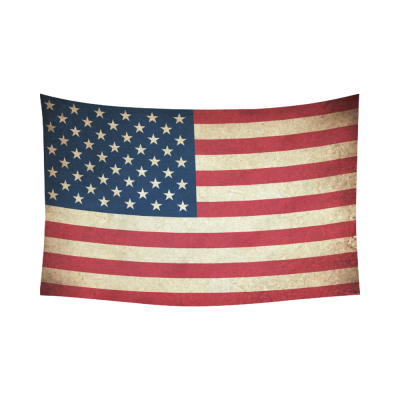 InterestPrint Vintage Retro American USA Flag Tapestry Wall Hanging July 4th Independence Day Wall Decor Art Cotton Linen for Home Decoration