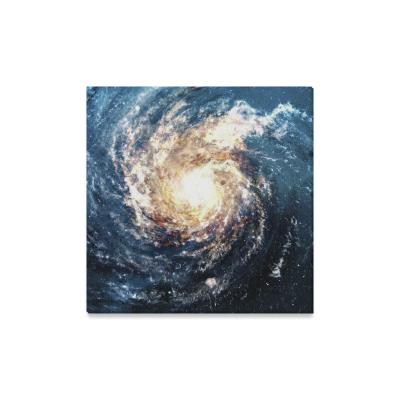InterestPrint Yellow Spiral Stardust Galaxy Canvas Wall ...