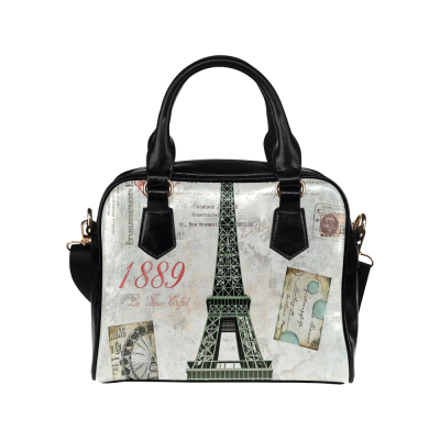 InterestPrint Eiffel Tower Paris Vintage Retro Women's Shoulder Handbag/Tote Bag/Travel Bag