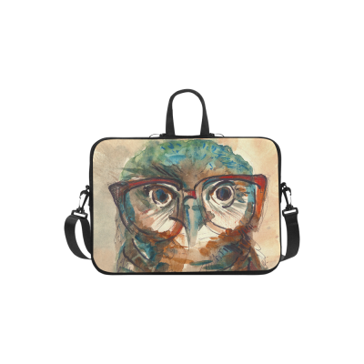 InterestPrint Classic Personalized Owl with Hipster Glasses Watercolor 13  - 13.3  /Macbook Pro Air 13 Inch Laptop Sleeve Case Bags Skin Cover for Lenovo, GW, Acer, Asus, Dell, Hp, Sony, Toshiba