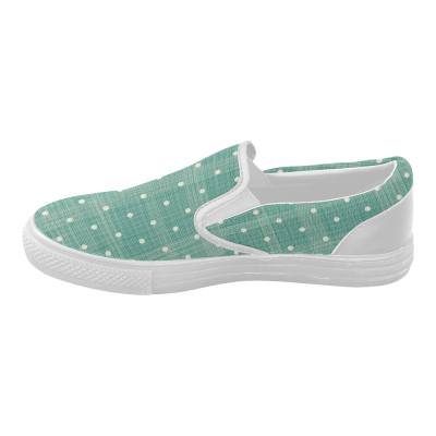 InterestPrint Polka Dot Casual Slip-on Canvas Women's Fashion Sneakers Shoes