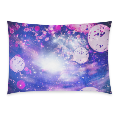 InterestPrint Nebula Galaxy Space Universe Home Decor, Beautiful Rose Floral Print Pillowcase 20 x 30 Inches - Custom Starry Sky Soft Pillow Cover Case Shams Decorative