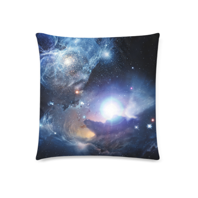 InterestPrint Galaxy Space Universe Home Decor, Nebula Outer Space Pillowcase 18 x 18 Inches - Custom Starry Sky Soft Pillow Cover Case Shams Decorative