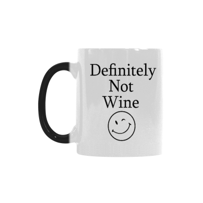 InterestPrint Definitely Not Wine Funny Coffee Mug - Birthday Gift Idea for Her, Mother's Day Gift - 10.3-Ounce, Ceramic Morphing Mug