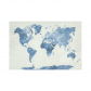 InterestPrint Abstract Art Splatter Painting Home Decor, Watercolor Bule World Map Cotton Linen Tapestry Wall Hanging Art Sets