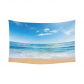 InterestPrint Ocean Wave Tapestry Home Decor Wall Art, Summer Beach Cotton Linen Tapestry Wall Hanging Art Sets