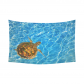 InterestPrint Tortoise Home Decor Wall Art, Ocean Underwater World Sea Turtle World Cotton Linen Tapestry Wall Hanging Art Sets