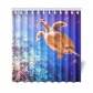 InterestPrint Underwater Ocean Sea Turtle Home Decor, Tropical Fish Polyester Fabric Shower Curtain Bathroom Sets with Hooks