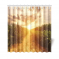 InterestPrint Corn Field Home Decor, Autumn Skyline Polyester Fabric Shower Curtain Bathroom Sets with Hooks