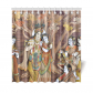 InterestPrint Lord Ganesh God of Hindus Home Decor, Indian Krishna Radha Polyester Fabric Shower Curtain Bathroom Sets
