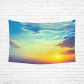 InterestPrint Sky Nature Wall Art Home Decor, Colorful Sun Sunrise Cotton Linen Tapestry Wall Hanging Art Sets
