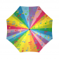 InterestPrint Colorful Rainbow Music Note Foldable Travel Rain Umbrella