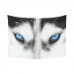 InterestPrint Black and White Blue Eyes Wolf Tapestry Wall Hanging Safari Animal Wall Decor Art for Living Room Bedroom Dorm Cotton Linen Decoration