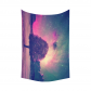 InterestPrint Night Sky Lonely Tree Tapestry Wall Hanging Starry Night Galaxy Purple Celestial Wall Decor Art for Living Room Bedroom Dorm Cotton Linen Decoration