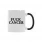 InterestPrint Kitchen & Dining Fuck Cancer Morphing Mug Heat Sensitive Color Changing Mug Ceramic Coffee Mug Cup-White-11 oz-Funny Quotes Saying