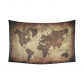 InterestPrint Vintage Wall Art Home Decor, Ancient World Map Cotton Linen Tapestry Wall Hanging Art Sets