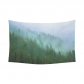 InterestPrint Evergreen Forest Landscape Wall Art Home Decor, Mysterious Trees in a Fog on the Mountain Cotton Linen Tapestry Wall Hanging Art Sets