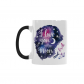 InterestPrint Kitchen & Dining I Love You to the Moon and Back Morphing Mug Heat Sensitive Color Changing Mug Ceramic Coffee Mug Cup-White-11 oz-Stars Rocket Galaxy Space Purple Blue Colorful
