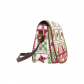 InterestPrint Christmas Snowflake Red Messenger Crossbody Travel Saddle Bag Purse