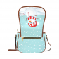 InterestPrint Snowman Christmas Blue Women's Waterproof Fabric Messenger Saddle Bag Purse