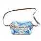 InterestPrint Vintage Whale Blue Women's Waterproof Fabric Messenger Saddle Bag Purse